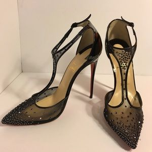 Christian Louboutin Shoes - Christian Louboutin 120 Hematite Strass